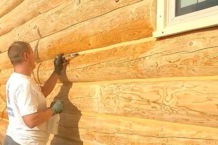 Заделка швов на деревянном доме