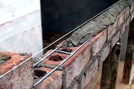 Вертикальное армирование кирпичной кладки