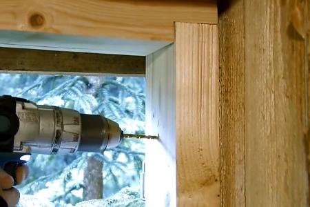 Как сделать окна в доме из блоков 303