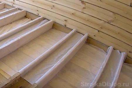 Пароизоляция для пола в деревянном доме