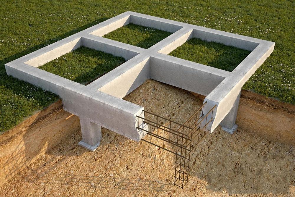Каркас ленточный бетон акриловая краска в цементный раствор